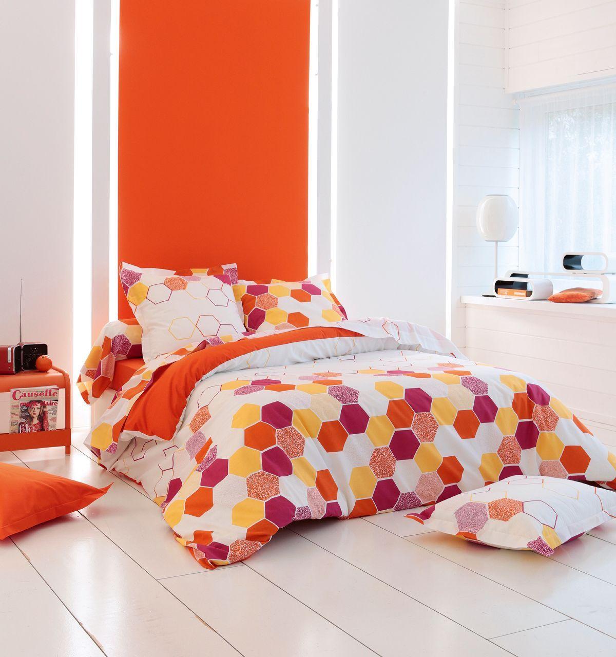taie d 39 oreiller tommy citrouille 50x70 tradilinge. Black Bedroom Furniture Sets. Home Design Ideas