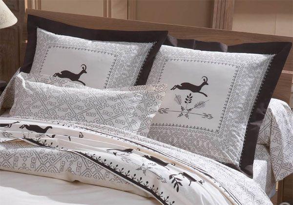 taie d 39 oreiller chamois 65x65 linge de maison. Black Bedroom Furniture Sets. Home Design Ideas