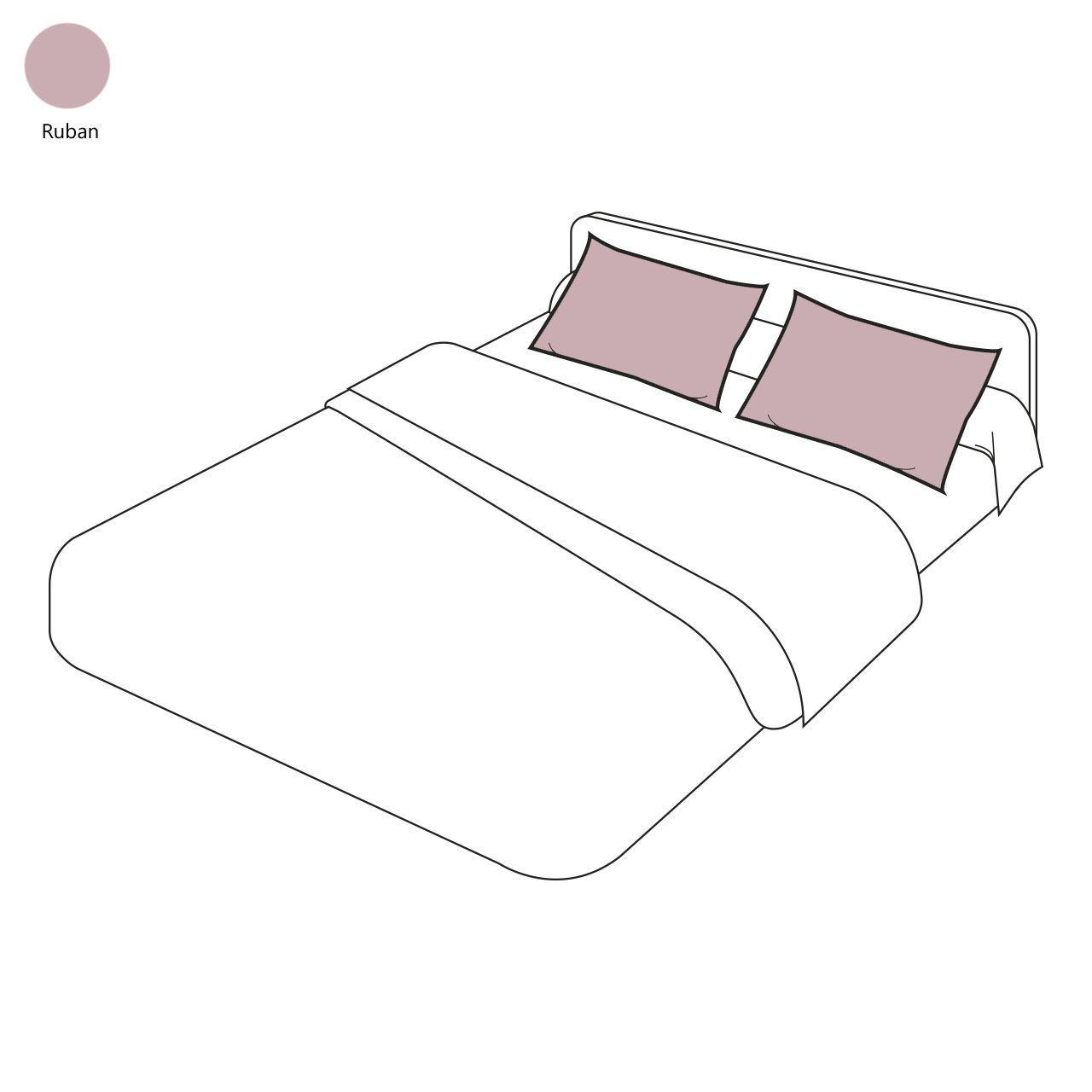 taie d 39 oreiller uni ruban 50x70 tradilinge. Black Bedroom Furniture Sets. Home Design Ideas