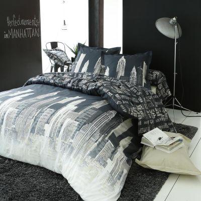 taie de traversin city manhattan 86x140 linge de maison. Black Bedroom Furniture Sets. Home Design Ideas