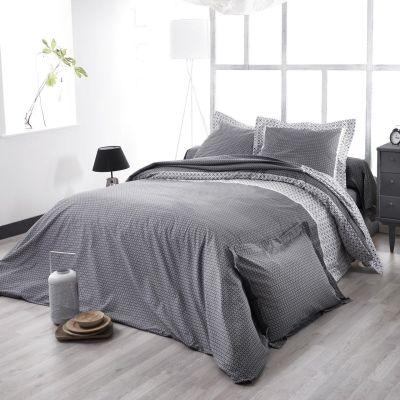 taie de traversin wesley noir satin de coton 43x140 linge de maison. Black Bedroom Furniture Sets. Home Design Ideas