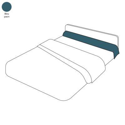 taie de traversin uni bleu paon 43x140 tradilinge. Black Bedroom Furniture Sets. Home Design Ideas