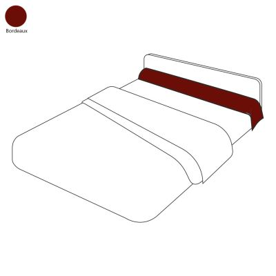 taie de traversin uni bordeaux 43x200 linge de maison. Black Bedroom Furniture Sets. Home Design Ideas