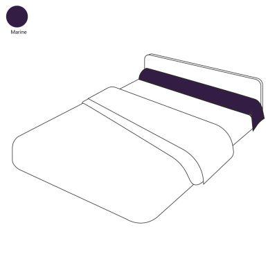 taie de traversin uni marine 43x140 linge de maison. Black Bedroom Furniture Sets. Home Design Ideas