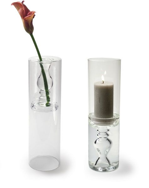 Photophore et vase verre chandel for Decoration verre