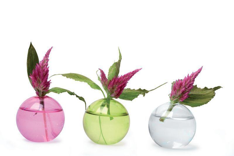 Set de 3 d cors de table verre mini bulle rose for Set de table en verre