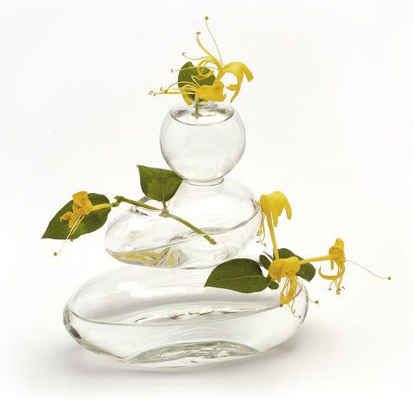 vase verre souffl trois galets d coration. Black Bedroom Furniture Sets. Home Design Ideas