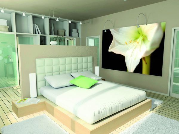 decoration murale amaryllis blanche 150x224. Black Bedroom Furniture Sets. Home Design Ideas