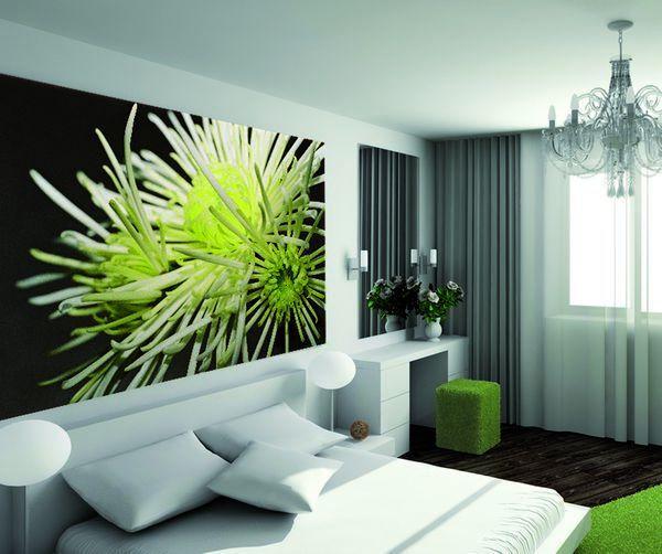 decoration murale fleur d 39 hiver 200x300. Black Bedroom Furniture Sets. Home Design Ideas