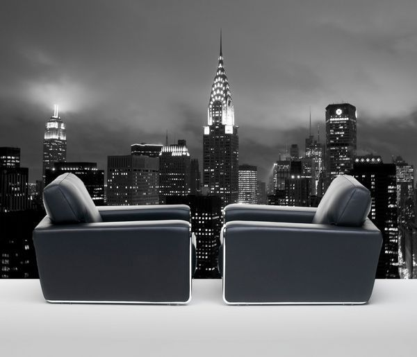 Decoration murale ny la nuit 100x150 for Deco murale new york