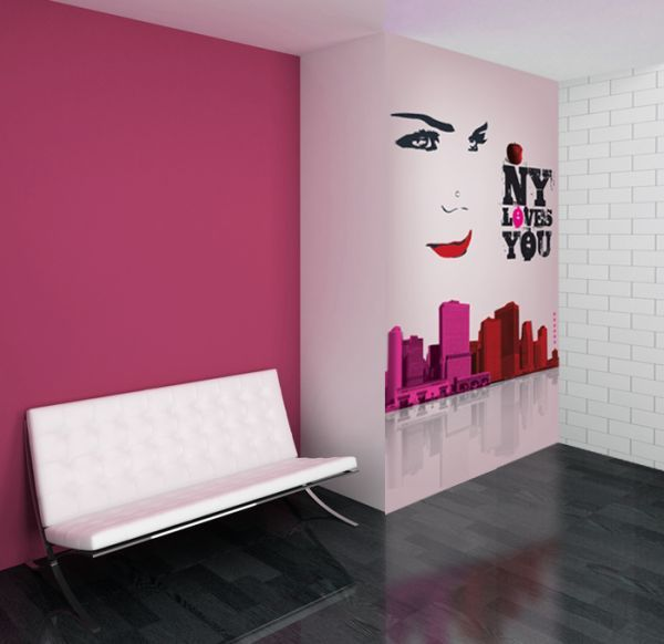 papier peint new york rose 79x150 d233coration decotaimefr
