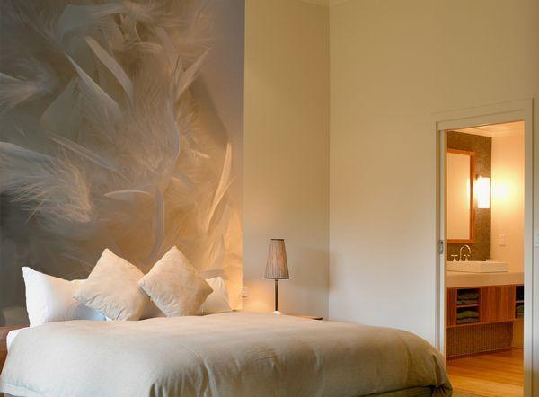 papier peint plume 100x150 d coration. Black Bedroom Furniture Sets. Home Design Ideas