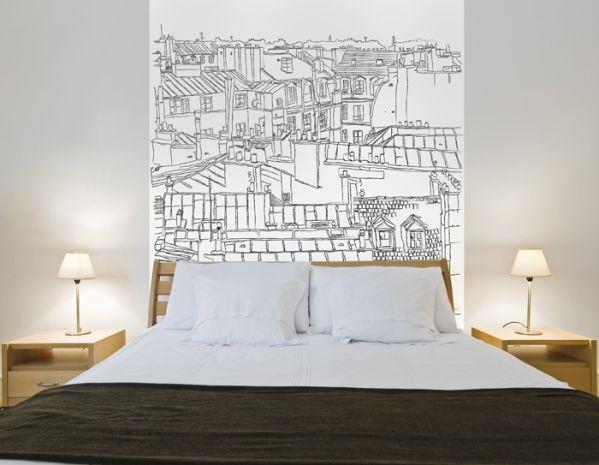 papier peint vue urbaine 68x100 d coration. Black Bedroom Furniture Sets. Home Design Ideas