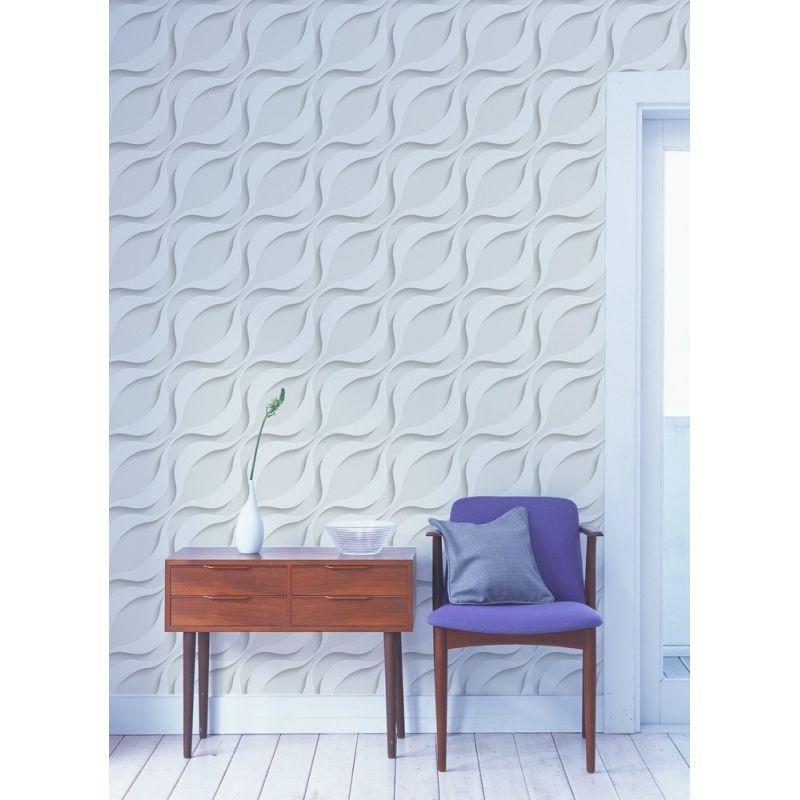 papier peint effet vagues 3d 403x250 d coration. Black Bedroom Furniture Sets. Home Design Ideas