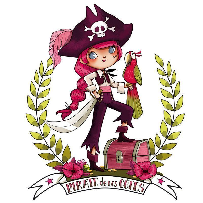 Pirate fille 96x120 - Acte deco