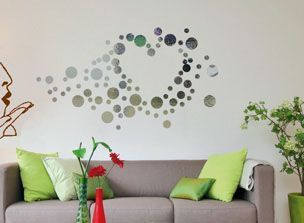 sticker effet miroir bulles d 39 amour c chocolat. Black Bedroom Furniture Sets. Home Design Ideas