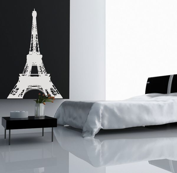 Sticker mural tour eiffel 100x66 for Stickers tour eiffel chambre