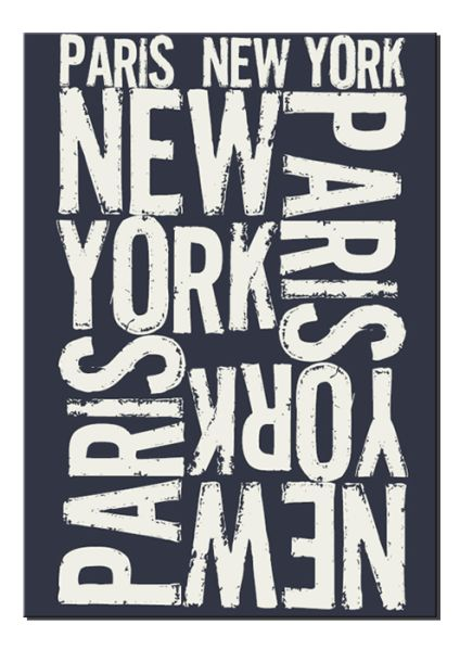 Tableau paris new york 60x92 acte deco - Tableau deco new york ...