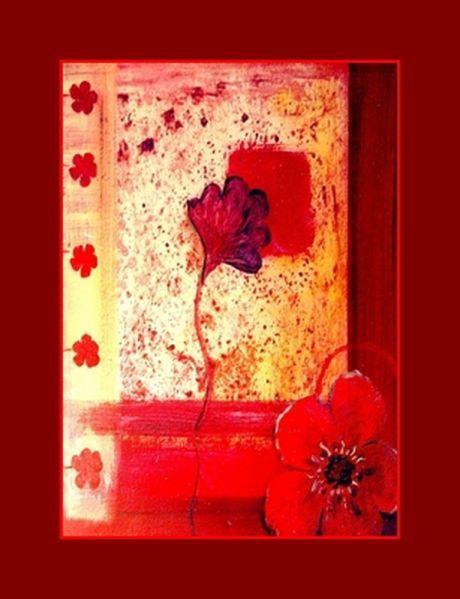 tableau reproduction fleurs rouges. Black Bedroom Furniture Sets. Home Design Ideas