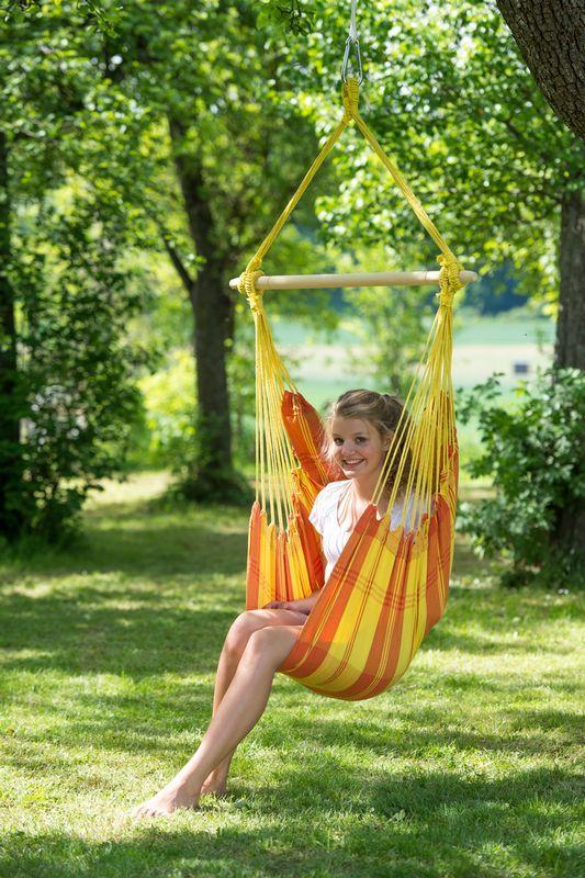 fauteuil suspendu relax orange. Black Bedroom Furniture Sets. Home Design Ideas