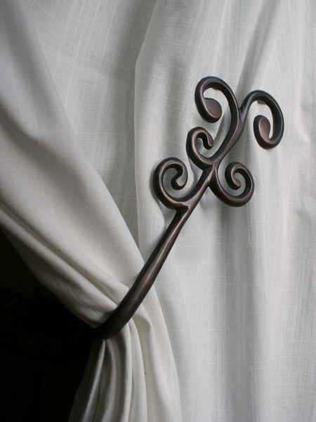 Embrasse aimant e aluminium coud e barok cuivr - Embrasse rideau originale ...