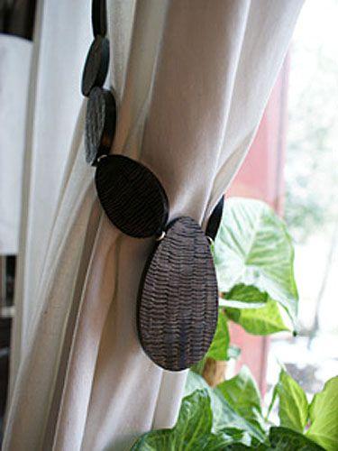 embrasse de rideau aimant e holi corne sculpt e d coration. Black Bedroom Furniture Sets. Home Design Ideas
