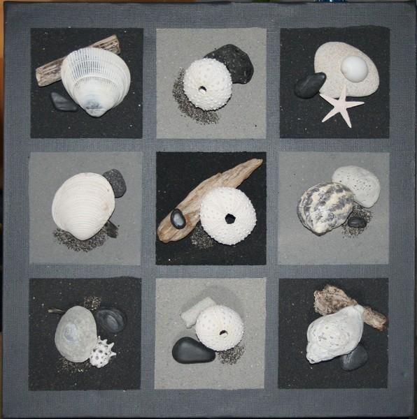tableau relief cama eu tons ardoise coc 39 art cr ations. Black Bedroom Furniture Sets. Home Design Ideas