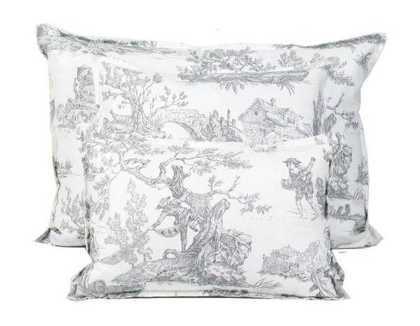 coussin imaginaire toile de jouy 45x45 d coration. Black Bedroom Furniture Sets. Home Design Ideas