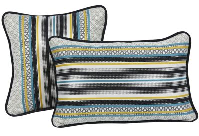coussin ray multicolore jaune et bleu farandole 45x30 d coration. Black Bedroom Furniture Sets. Home Design Ideas