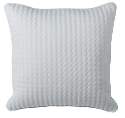 housse de coussin lin motif brod zig zag passepoil blanc. Black Bedroom Furniture Sets. Home Design Ideas