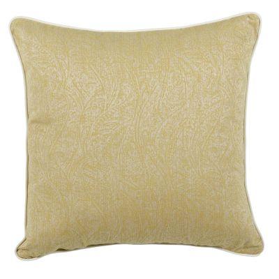 housse de coussin motif tilleul passepoil blanc 65x65. Black Bedroom Furniture Sets. Home Design Ideas