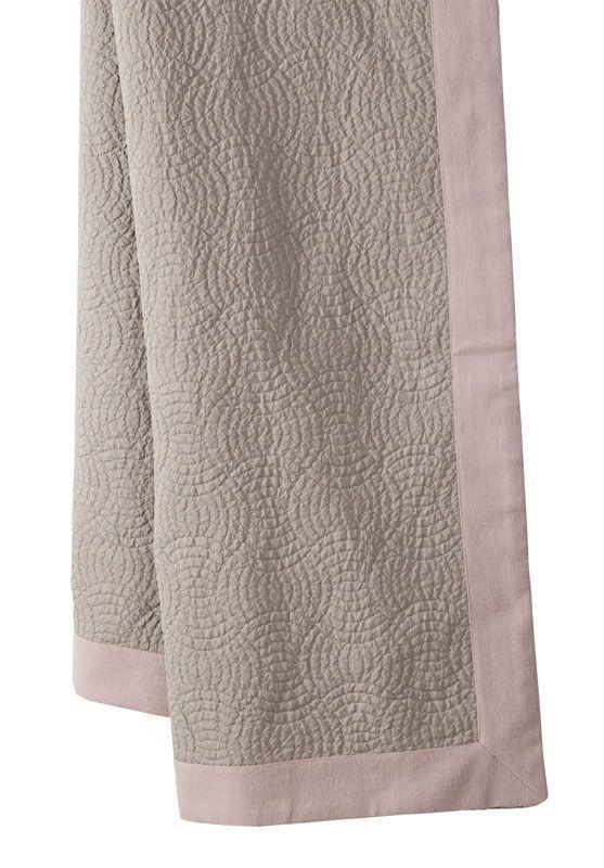 plaid esquisse piqu de coton gris bandes rapport es rose 140x170. Black Bedroom Furniture Sets. Home Design Ideas