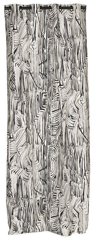 rideau exotic motif g om triques t te oeillets 140x270 d coration. Black Bedroom Furniture Sets. Home Design Ideas