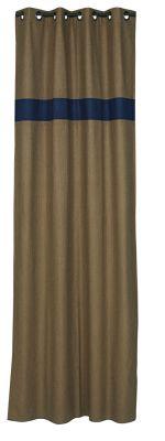 rideau chevrons mordor bande bleu fifty 140x270 d coration. Black Bedroom Furniture Sets. Home Design Ideas